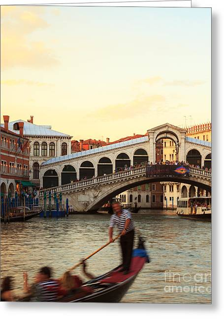 Gondolier Greeting Cards - The gondolier Greeting Card by Matteo Colombo