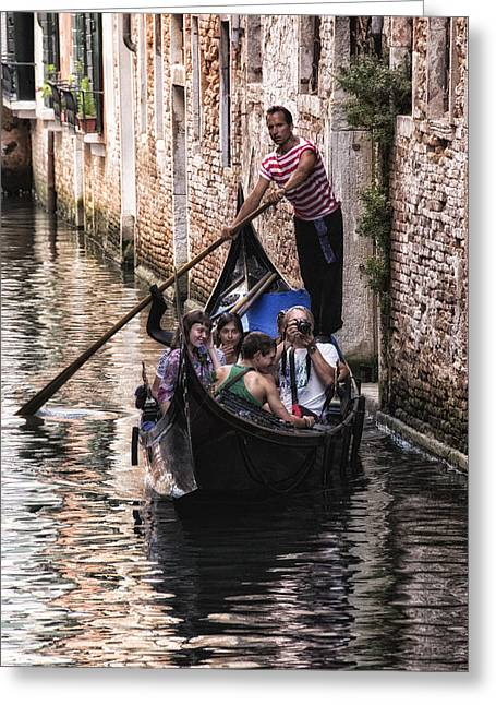 Gondolier Greeting Cards - The Gondolier Greeting Card by Wade Aiken
