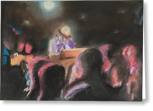 Concerts Pastels Greeting Cards - The Good Doctor Greeting Card by Andrew Mason