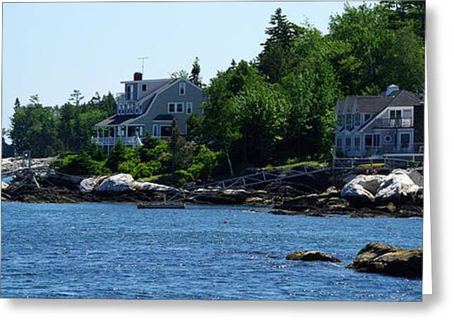 New England Village Greeting Cards - The Good Life Greeting Card by Gary Benson