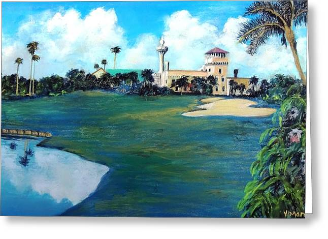 St Petersburg Florida Pastels Greeting Cards - The Good Neighbor Greeting Card by Vincent Mancuso