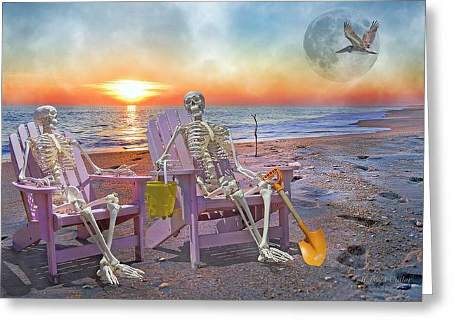 Coastal Decor Digital Art Greeting Cards - The Good Old Days Greeting Card by Betsy A  Cutler