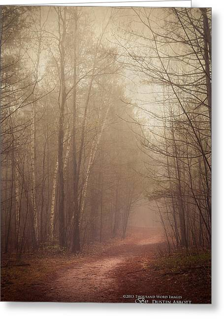 Kim Klassen Texture Greeting Cards - The Good Path Greeting Card by Dustin Abbott