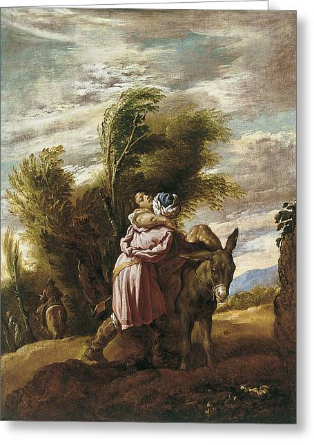Samaritan Greeting Cards - The Good Samaritan Greeting Card by Domenico Fetti
