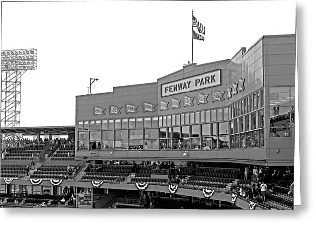 Fenway Park Greeting Cards - The Good Seats Greeting Card by Barbara McDevitt