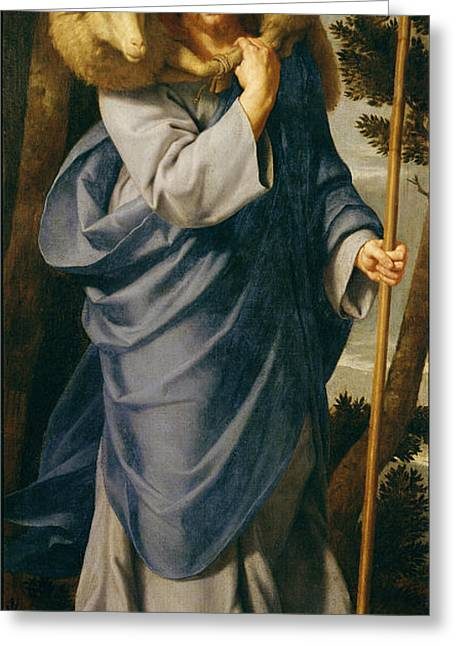 Jesus Greeting Cards - The Good Shepherd Oil On Canvas Greeting Card by Philippe de Champaigne