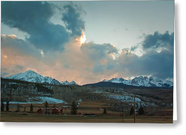 The Gore Range Greeting Card by Greg Sagan