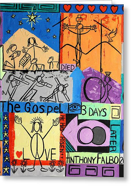 Gospel Greeting Cards - The Gospel Greeting Card by Anthony Falbo