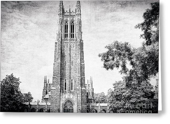 Duke Greeting Cards - The Gothic Cathedral at Duke University Greeting Card by Emily Kay