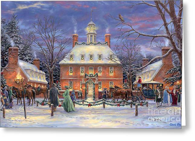 Century Greeting Cards - The Governors Party Greeting Card by Chuck Pinson