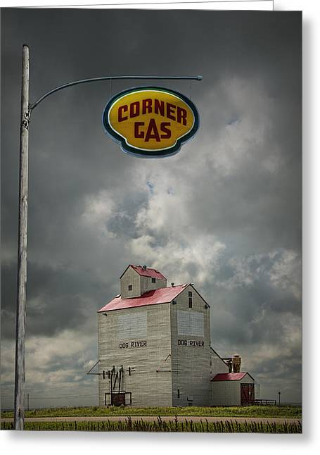 Canada Photograph Greeting Cards - The Grain Elevator from the Canadian TV Sitcom Corner Gas Greeting Card by Randall Nyhof