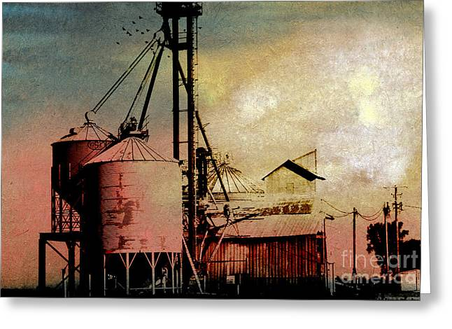 Feed Mill Mixed Media Greeting Cards - The Granary Greeting Card by R Kyllo