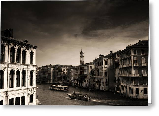 Spaghetti Greeting Cards - The Grand Canal Greeting Card by Aaron S Bedell