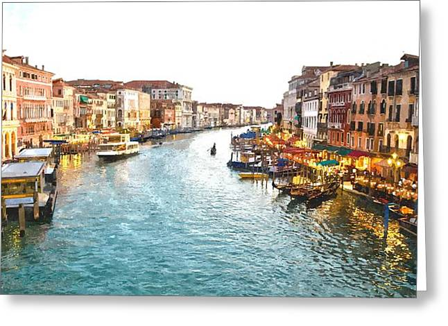 The Grand Canal Of Venice Greeting Card by Gianfranco Weiss