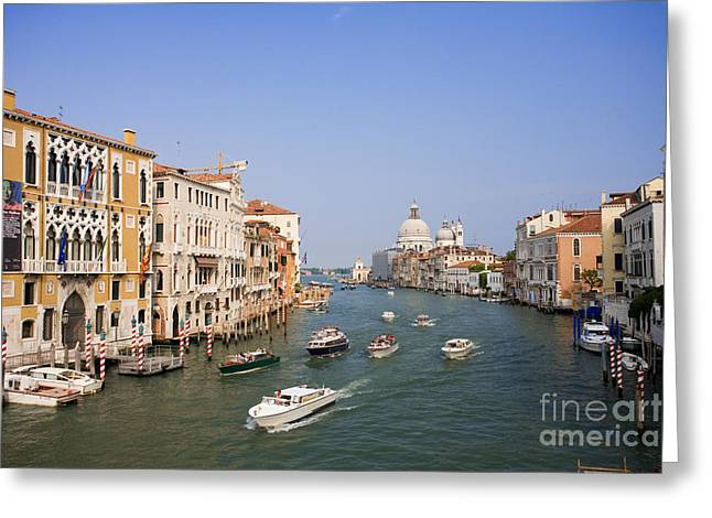 Vaporetto Greeting Cards - The Grand Canal, Venice Greeting Card by David Davis
