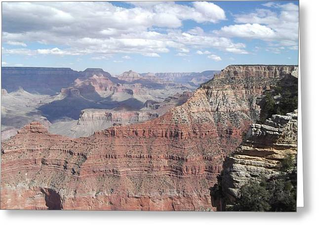 Layer Pyrography Greeting Cards - The Grand Canyon  Greeting Card by Robert Carter