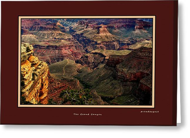 The Grand Canyon Greeting Card by Tom Prendergast