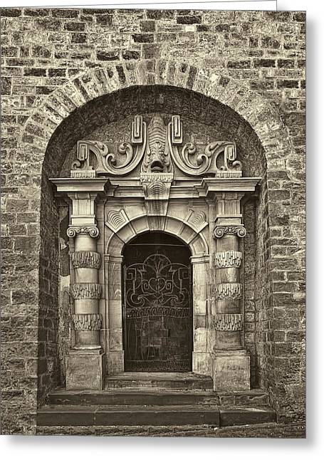 Entrance Door Greeting Cards - The Grand Entrance Greeting Card by Marcia Colelli