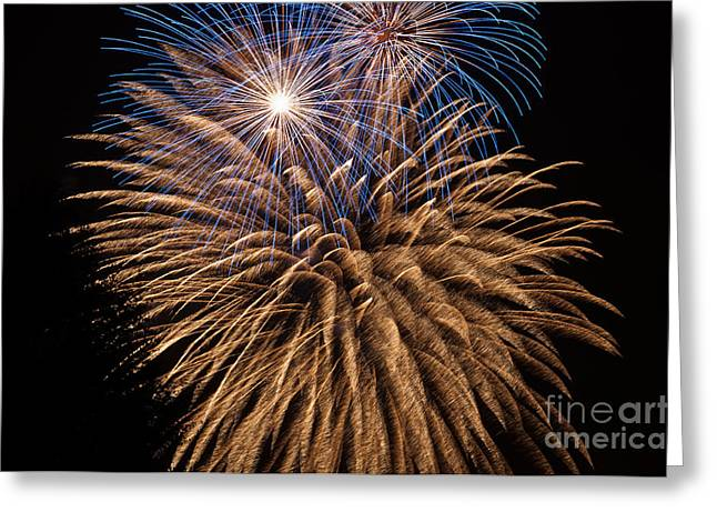 Pyrotechnics Greeting Cards - The Grand Finale Greeting Card by Steve Purnell