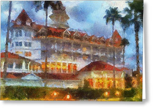 Hospital Theme Greeting Cards - The Grand Floridian Resort WDW 01 Photo Art Greeting Card by Thomas Woolworth