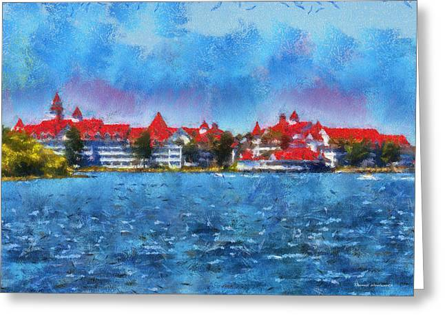 Hospital Theme Greeting Cards - The Grand Floridian Resort WDW 03 Photo Art Greeting Card by Thomas Woolworth
