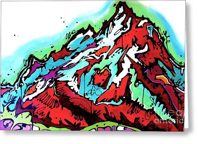 Jackson Hole Greeting Cards - The Grand from Jackson Lake Greeting Card by Nicole Gaitan