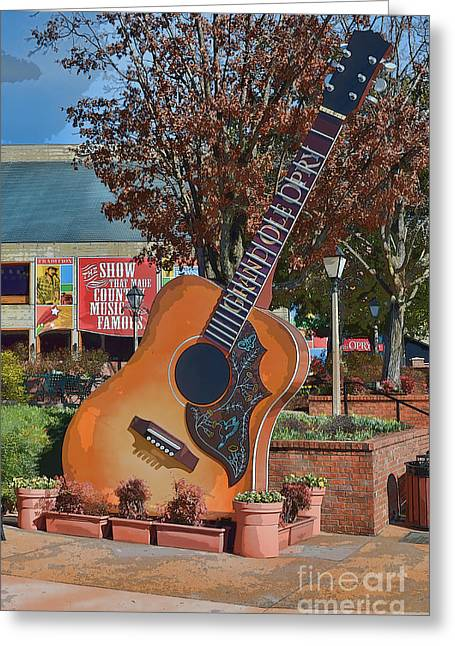 Tennessee Landmark Greeting Cards - The Grand Ole Opry Greeting Card by Donna Van Vlack