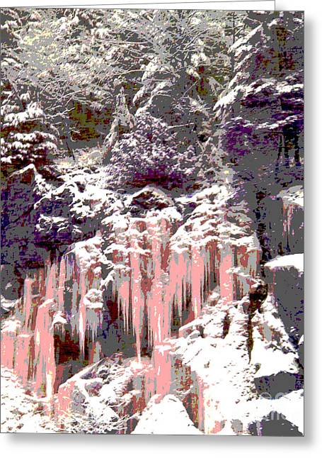 Wonderous Greeting Cards - The Grand Stillness Of Winter Greeting Card by Ann Johndro-Collins