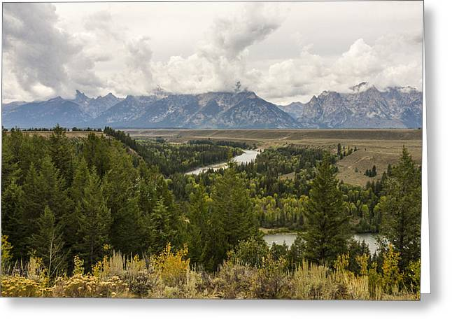 Moran Greeting Cards - The Grand Tetons Over Snake River - Grand Teton National Park - Wyoming Greeting Card by Brian Harig