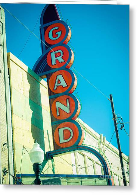 Movie Theatre Greeting Cards - The Grand Theatre Greeting Card by Sonja Quintero