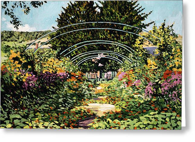 Tourist Site Greeting Cards - The Grande Alle Monets Garden Greeting Card by David Lloyd Glover