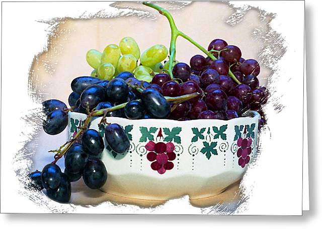 Nake Greeting Cards - The Grape Bowl II Greeting Card by Ken Evans