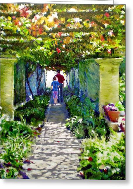Cape Town Paintings Greeting Cards - The Grape Trellis Greeting Card by Michael Durst