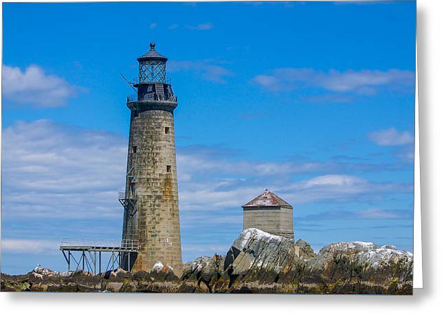 Boston Ma Greeting Cards - Graves Light Greeting Card by Brian MacLean