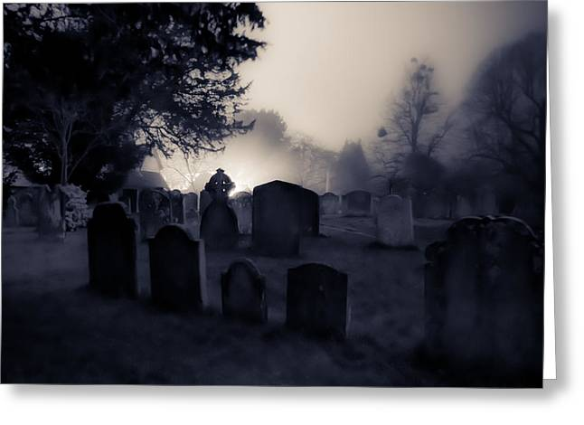 Headstones Photographs Greeting Cards - The Graveyard Greeting Card by Ian Hufton
