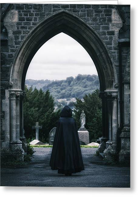 Sorrow Photographs Greeting Cards - The Graveyard Greeting Card by Joana Kruse