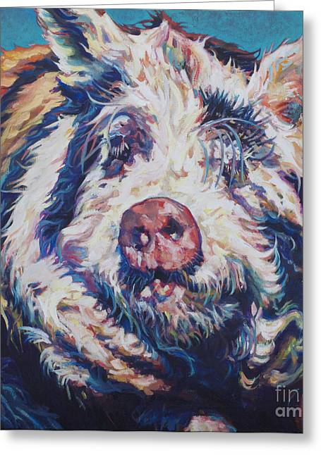 Hairy Pig Greeting Cards - The Great Barrington Greeting Card by Patricia A Griffin