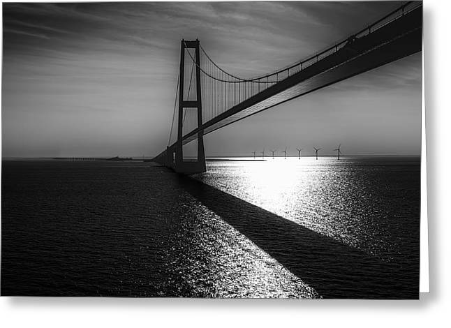 Scandinavia Greeting Cards - The Great Belt Bridge Greeting Card by Erik Brede