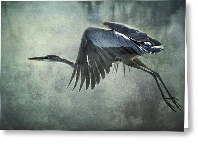 Great Birds Greeting Cards - The Great Blue Heron  Greeting Card by Saija  Lehtonen