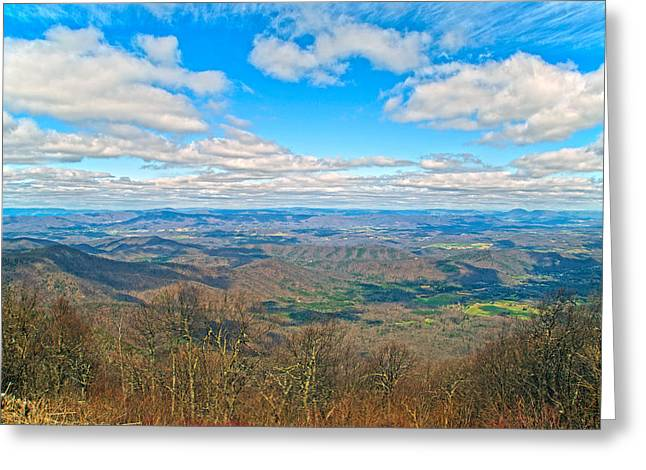 Tranquil Moments Greeting Cards - The Great Blue Ridge Parkway Greeting Card by Betsy A  Cutler