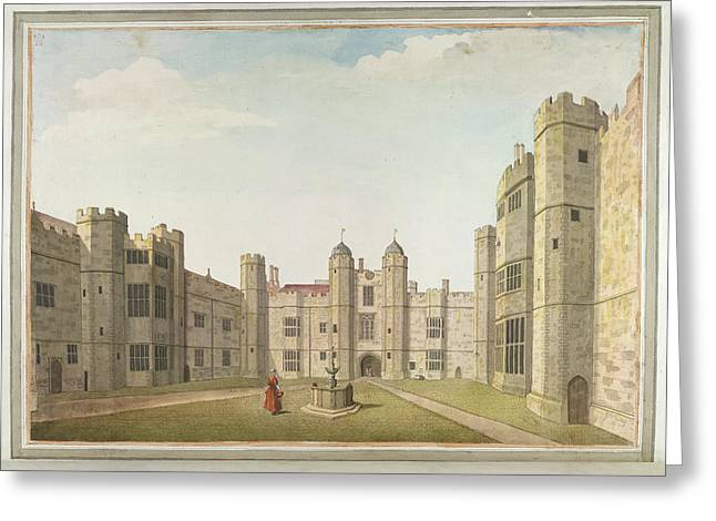 The Great Court At Cowdray Greeting Card by British Library