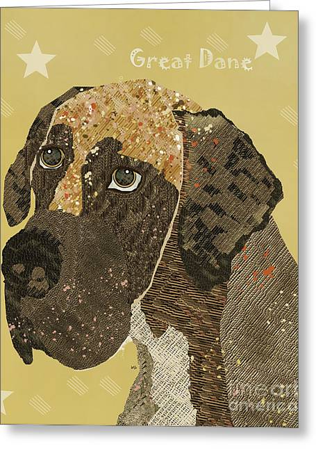 Great Dane Portrait Greeting Cards - The Great Dane  Greeting Card by Bri Buckley