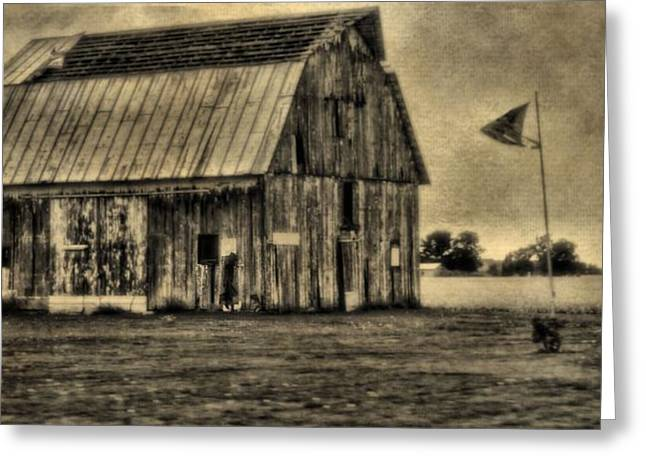 Hard Times Greeting Cards - The Great Depression Barn Greeting Card by Dan Sproul