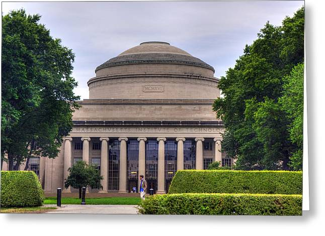 Mit Greeting Cards - The Great Dome - MIT Greeting Card by Joann Vitali