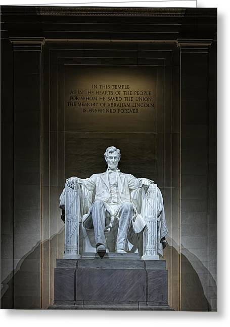 The Great Emancipator Greeting Card by Metro DC Photography