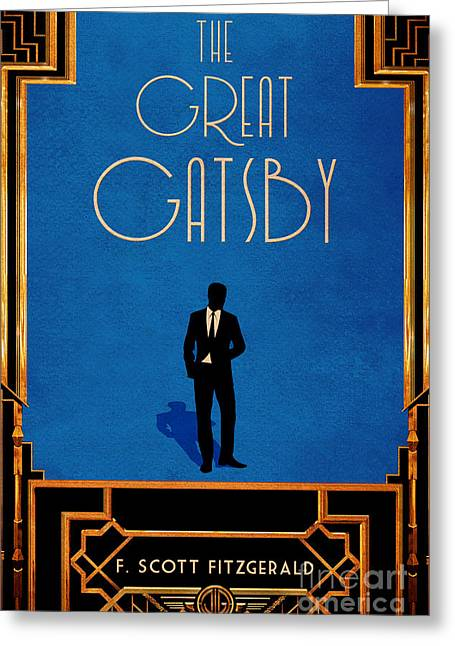 Minimalist Literature Cover Greeting Cards - The Great Gatsby Book Cover Movie Poster Art 2 Greeting Card by Nishanth Gopinathan