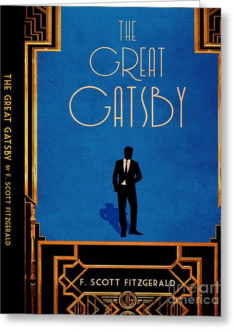 Book Jacket Greeting Cards - The Great Gatsby Book Cover Movie Poster Art 5 Greeting Card by Nishanth Gopinathan