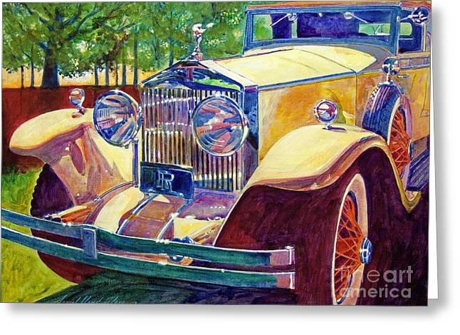 Autos Greeting Cards - The Great Gatsby Greeting Card by David Lloyd Glover