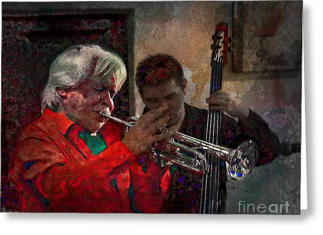 Bar San Miguel Greeting Cards - The Great Luis Gasca Greeting Card by John  Kolenberg