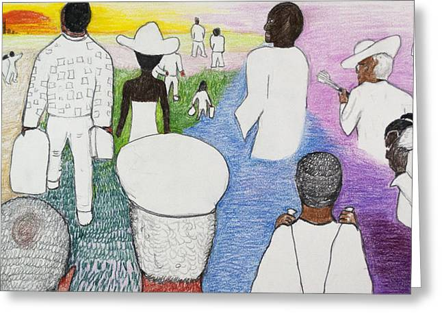 Racism Drawings Greeting Cards - The Great Migration Greeting Card by Jeremy Phelps